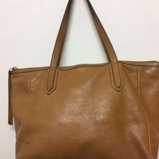 Authentic Fossil Sydney Shopper Bag - Camel (Preloved)
