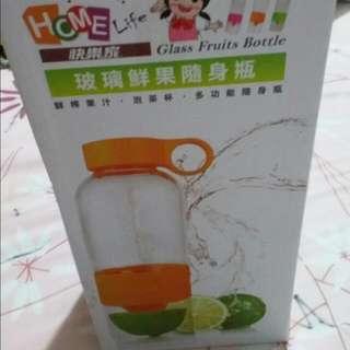 全新攜帶式玻璃手動打汁瓶