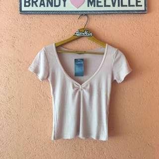 Brandy Melville Vneck Blush