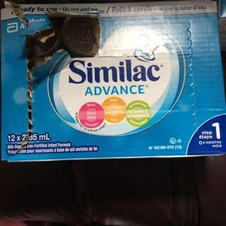 Similac advance and diapers