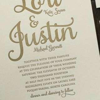 Customize invitation