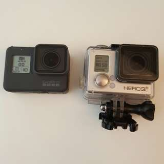 Gopro 5 and 3+