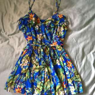 Forever New Floral Playsuit size 10