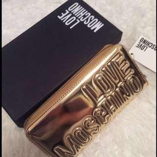 Moschino Gold Purse (clutch)