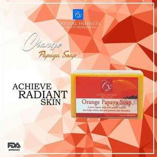 Crystal Infinity Orange Papaya Soap
