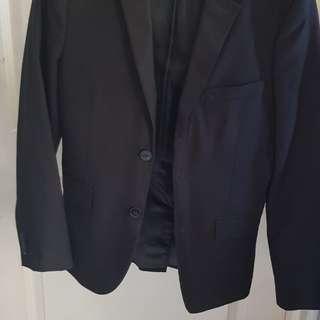 H&M Slim Fit Coat (Black)