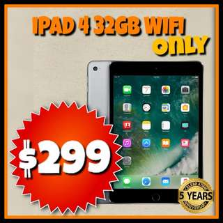 Refurbished iPad 4 32GB Wifi ONLY UNLOCKED Black & White @PB