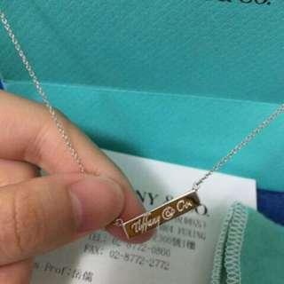 Tiffany & Co 經典款 長牌 項鍊 純銀