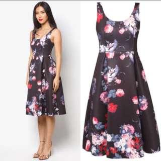 Zalora Sleeveless Printed Midi Dress