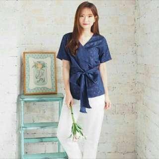 Navy Top Kimono