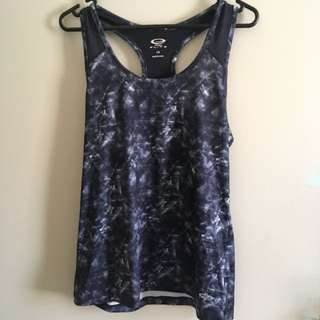 action sports elite gym/work out singlet/tank top, women's size 14