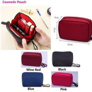 Cosmetic Pouch (Red/ Blue / Black / Pink)