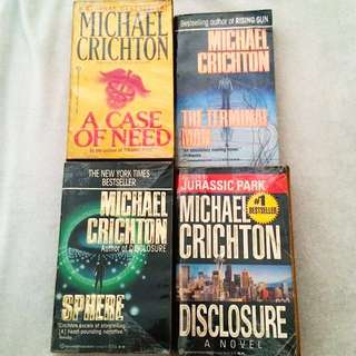 4 Michael Crichton Books
