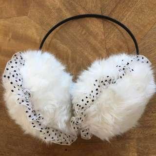 Fluffy White Earmuffs