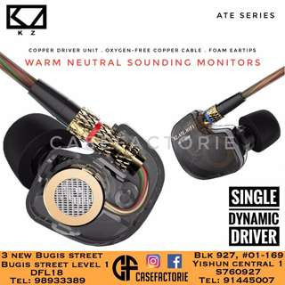 [GRAY] KZ ATE SERIES AUDIOPHILE WITH STEREO HEADPHONE EARPHONE HEADSET EARPIECE EARBUD (Authentic) (Self-Collection) (Postage)