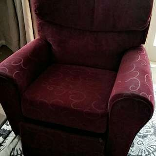 Red cozy recliner