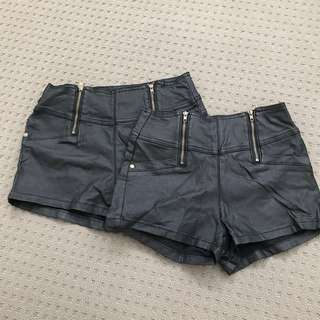 Ally Wet Look Short Shorts Sz8