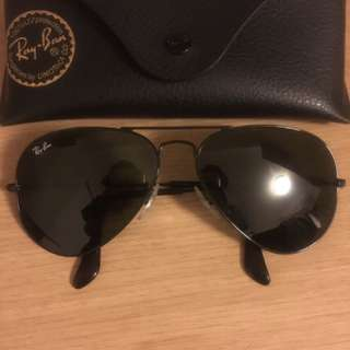 Authentic all black ray ban aviators