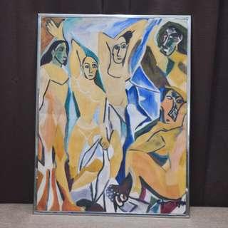 """Les Desmoiselles d'Avignon Painting (15"""" x 20"""" Oil on Canvas)"""