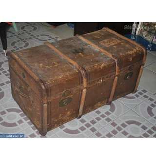 Antique Steamer Trunk by Madler Germany authentic nego. free shipping plus freebies