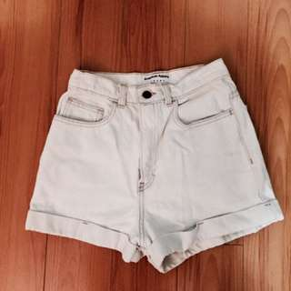 American Eagle high waisted light wash shorts