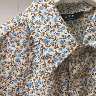 Button-up flowery shirt