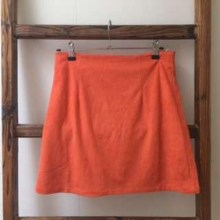 Pretty Little Thing orange skirt