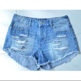 Jay jays Ripped Denim Shorts