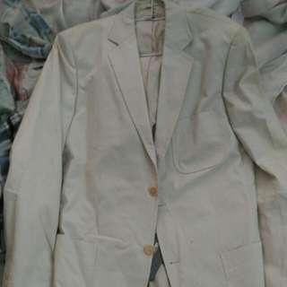 Lacoste白色大衣