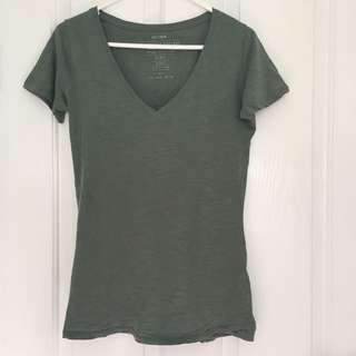 Cotton on Green V Neck Short Top Size S 8-10