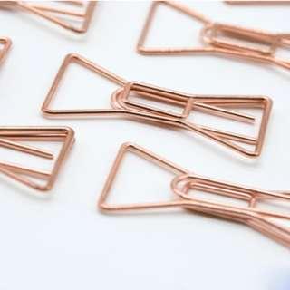 Rose Gold Paper Clip (Bow Design)