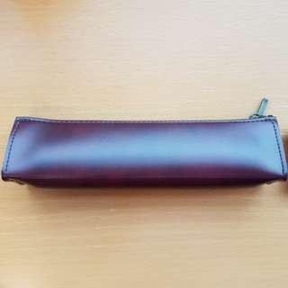 Pilot faux leather pen and pencil case with zip