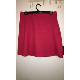 red slim skirt
