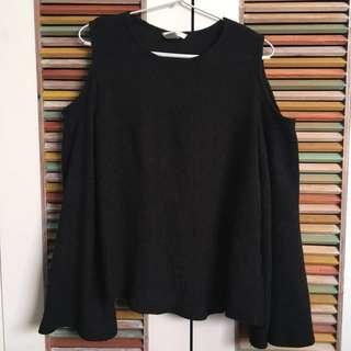 H&M cold shoulder top