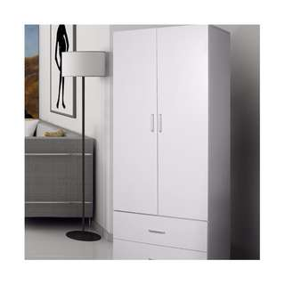 brand new 2 doors 2 drawers wardrobe, still in flat pack