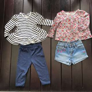 Girl Toddler Branded Clothes New (Include Postage)