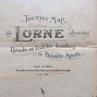 1933年观光旅游地图
