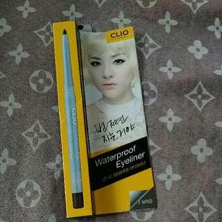 Authentic Clio Waterproof Eyeliner/Eyebrow Liner Color Brown