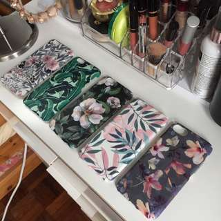 Readystock! iPhone Floral Hard Matte Case