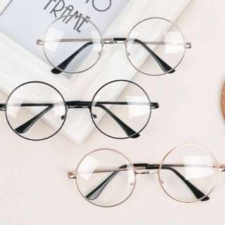INSTOCK Korean Vintage Large Round Circle Glasses