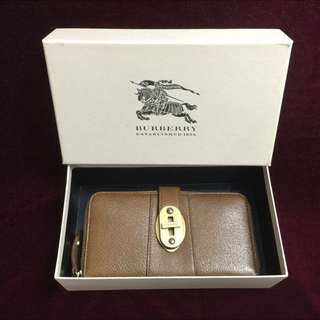 Burberry Brown Leather Large Ziggy Wallet