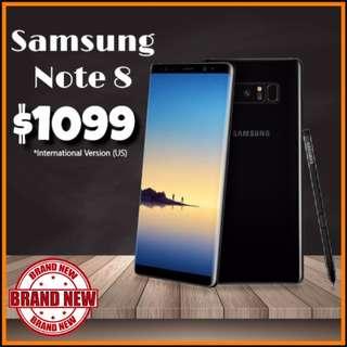 BRAND NEW SAMSUNG GALAXY NOTE 8 64GB BLACK UNLOCKED Intl Version