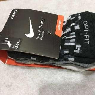 Nike 快乾短襪 三雙 Dri-fit Cotton