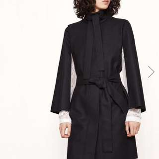 MAJE coat With Cape-Style Sleeves