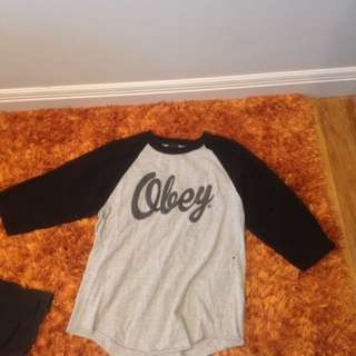 Obey 3/4 Sleeve Shirt