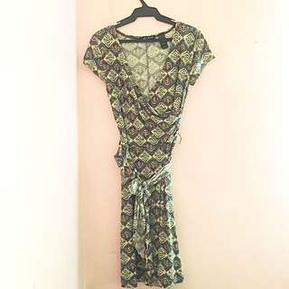 Axcess Printed Wrap Dress