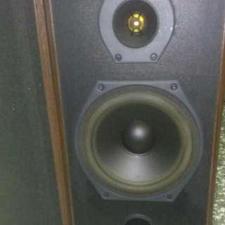 德國原裝CHARL左右聲道喇叭一組 前置喇叭 實心木質喇叭