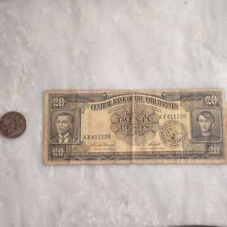 20 peso bill