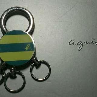 agnes b.簡約時尚鑰匙圈