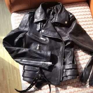 紐西蘭羊皮製作 騎士真皮衣夾克